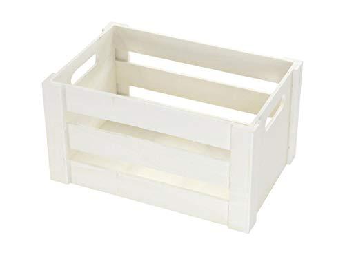 DARO DEKO Holz Kiste mit Griffen – weiß – XL